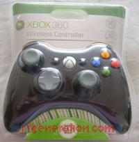 Microsoft Xbox 360 Wireless Controller Black Box Front 200px