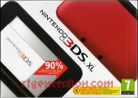 Nintendo 3DS XL Red + Black Box Front 200px