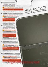 new Nintendo 3DS XL Metallic Black Box Back 200px