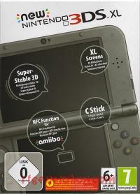 new Nintendo 3DS XL Metallic Black Box Front 200px