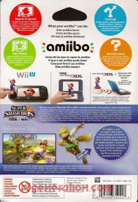 Amiibo: Super Smash Bros.: Fox  Box Back 200px