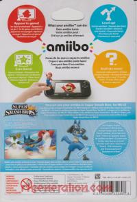 Amiibo: Super Smash Bros.: Lucario  Box Back 200px