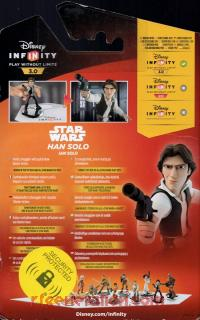 Disney Infinity 3.0: Star Wars Han Solo  Box Back 200px