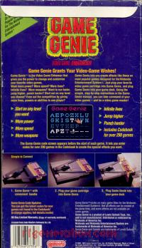 Game Genie  Box Back 200px