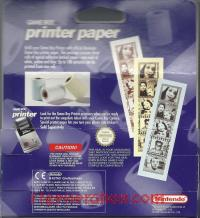 Game Boy Printer Paper  Box Back 200px