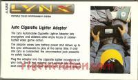 Atari Lynx Car Adapter  Box Back 200px