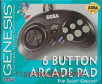 6 Button Arcade Pad Small - Turbo Box Front 200px