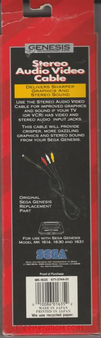 Stereo Audio Video Cable  Box Back 200px
