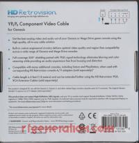 YPbPr Component Video Cable for Genesis Second Revision Box Back 200px