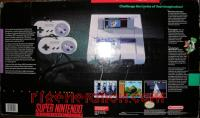 Super Nintendo Entertainment System Super Mario World Bundle Box Back 200px