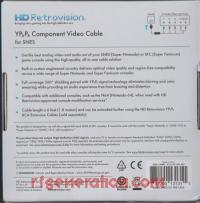 YPbPr Component Video Cable for SNES Second Revision Box Back 200px