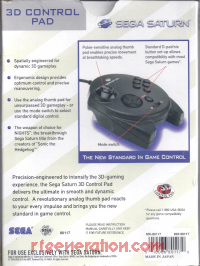 Sega Saturn 3D Control Pad  Box Back 200px