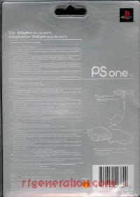 PSOne Car Power Adaptor  Box Back 200px