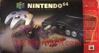 Nintendo 64 Atomic Purple Controller Bundle Box Front 200px