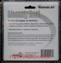 Nuby Memory Card 256KB Box Back 200px