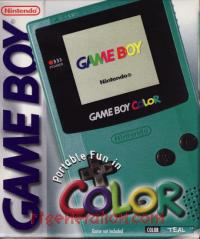 Nintendo Game Boy Color Teal Box Front 200px