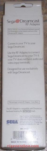 Dreamcast RF Adapter Official Sega Box Back 200px