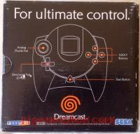 Dreamcast Controller Official Charcoal Box Back 200px