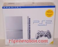 Sony PlayStation 2 Slimline - Satin Silver Box Front 200px