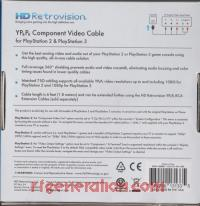 YPbPr Component Video Cable for PlayStation 2 & PlayStation 3  Box Back 200px