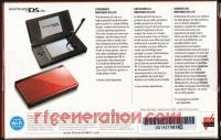Nintendo DS Lite Crimson/Black Box Back 200px