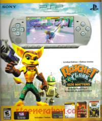 Sony PSP Slim Limited Edition Ratchet & Clank: Size Matters Entertainment Pack Box Front 200px