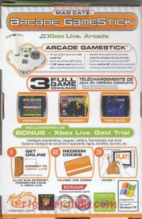 Arcade GameStick Mad Catz Box Back 200px
