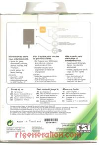 320GB Hard Drive Official Microsoft Box Back 200px