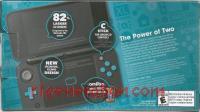 new Nintendo 2DS XL Black + Turquoise Box Back 200px