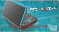 new Nintendo 2DS XL Black + Turquoise Box Front 200px