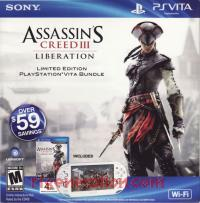 Sony PS Vita Assassin's Creed III: Liberation Limited Edition Crystal White WiFi Model Box Front 200px