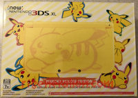 new Nintendo 3DS XL Pikachu Yellow Edition Box Front 200px
