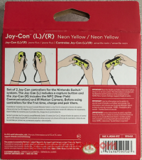 Joy-Con (L) / (R) Neon Yellow Box Back 200px