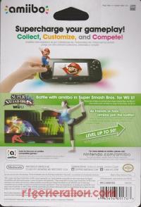 Amiibo: Super Smash Bros.: Wii Fit Trainer  Box Back 200px