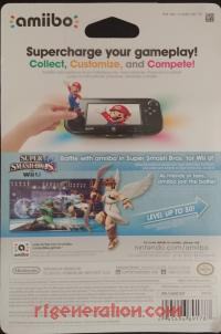 Amiibo: Super Smash Bros.: Pit  Box Back 200px