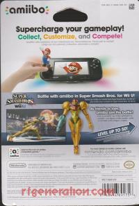 Amiibo: Super Smash Bros.: Samus  Box Back 200px