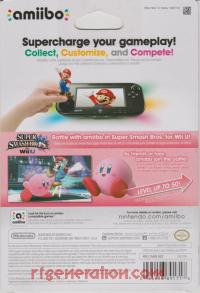 Amiibo: Super Smash Bros.: Kirby  Box Back 200px