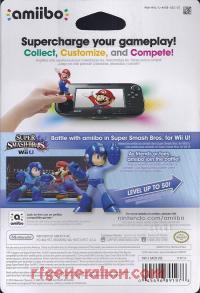 Amiibo: Super Smash Bros.: Mega Man  Box Back 200px