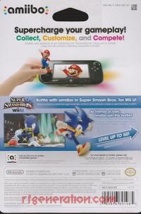 Amiibo: Super Smash Bros.: Sonic  Box Back 200px