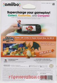 Amiibo: Super Smash Bros.: Charizard  Box Back 200px