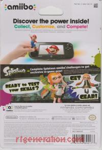 Amiibo: Splatoon: Inkling Girl  Box Back 200px