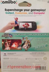 Amiibo: Super Smash Bros.: Palutena  Box Back 200px