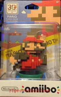 Amiibo: Mario 30th Anniversary: 8-Bit Mario Classic Colors Box Front 200px