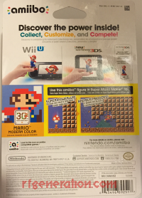 Amiibo: Mario 30th Anniversary: 8-Bit Mario Modern Colors Box Back 200px