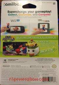 Amiibo: Super Smash Bros.: Bowser Jr.  Box Back 200px