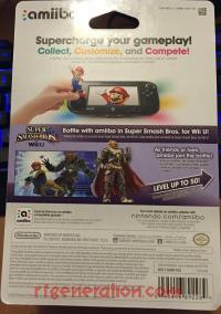 Amiibo: Super Smash Bros.: Ganondorf  Box Back 200px