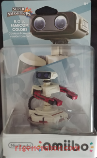 Amiibo: Super Smash Bros.: R.O.B. Famicom Colors Box Front 200px