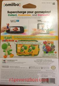 Amiibo: Yoshi's Woolly World: Green Yarn Yoshi  Box Back 200px