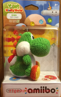 Amiibo: Yoshi's Woolly World: Green Yarn Yoshi  Box Front 200px