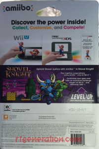 Amiibo: Shovel Knight: Shovel Knight  Box Back 200px